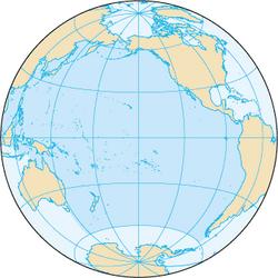 Localização do Oceano Pacífico