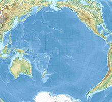 Reliefkarte: Pazifischer Ozean