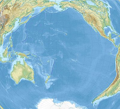 Location map Pacific Ocean