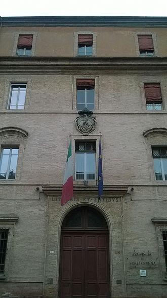 Province of Forlì-Cesena - Palazzo dei Signori della Missione, the provincial seat in Forlì.