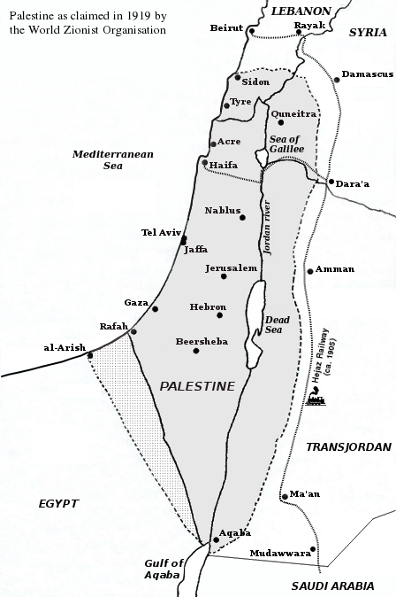 Palestine claimed by WZO 1919