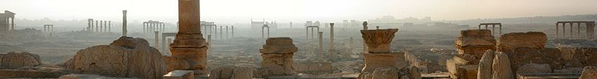 Early morning panorama of Palmyra.
