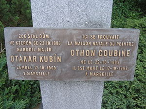 Otakar Kubín - Memorial of Otakar Kubín in Boskovice