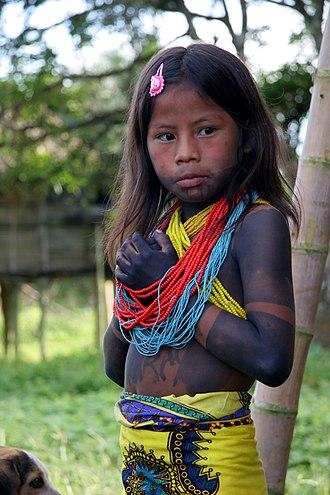 Darién Gap - Embera girl, Darién Province