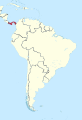 Panama in South America (-mini map -rivers).svg