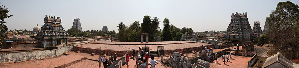Панорама Храма Ранганатхи в Шрирангаме