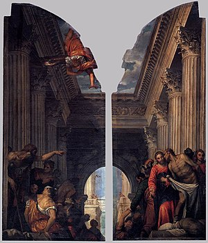 Paolo Veronese - Healing of the Lame Man at th...
