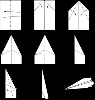 Paper plane THE LEBO airplane