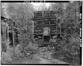 Paramount Mine ore bin and chute. View from southeast. - Paramount Mine, Saint Elmo (historical), Chaffee County, CO HAER COLO,8-STEL,1-8.tif