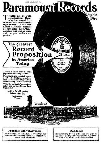 Paramount Records - Paramount Records ad, 1919