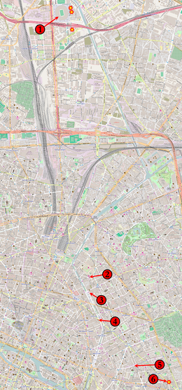 Bataclan Concert Hall Paris Map.November 2015 Paris Attacks Wikipedia