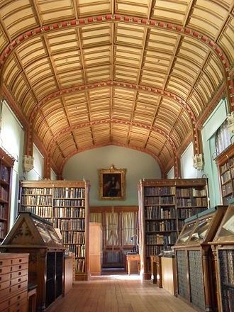 Parker Library, Corpus Christi College - A view along the Wilkins' Room inside the Parker Library
