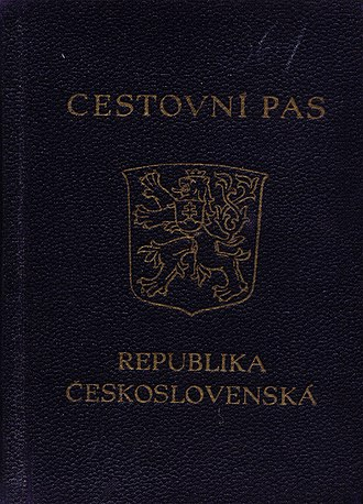Third Czechoslovak Republic - Czechoslovakian passport issued in 1947