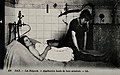 Patient receiving thermal mud bath treatment, Dax Wellcome V0049841.jpg
