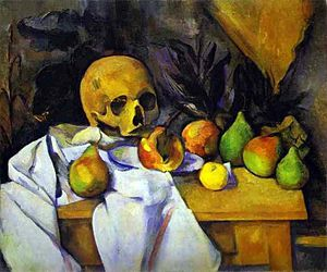 Pyramid of Skulls - Image: Paul Cézanne Still Life with a Skull
