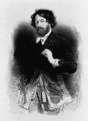 Paul Gavarni - Self portrait by Gavarni.
