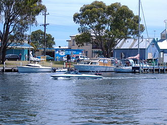Paynesville, Victoria - View of the foreshore at Paynesville, Victoria, Australia