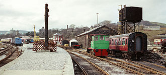 Peak Rail - The Buxton Steam Centre of the Peak Railway Preservation Society as it was in March 1990 before closure