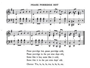 Pease Porridge Hot - Image: Pease Porridge Hot Music 1922