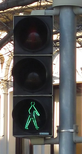 Traffic light - A traffic light for pedestrians in Switzerland