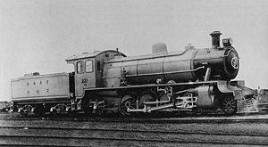 Beijing–Harbin Railway - Steam locomotive 221 of the Peking−Mukden Railway. After 1949 these locomotives were known as the JF7-class.