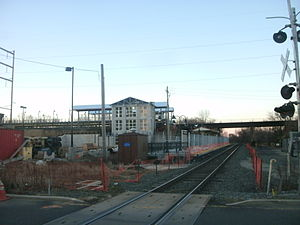 Pennsauken Transit Center - The stations under construction in January 2013
