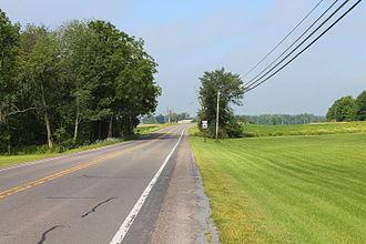 Pennsylvania Route 642 - Pennsylvania Route 642 west in Liberty Township, Montour County