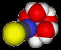 Pentaaquathiocyanatoiron(II)-3D-vdW.png