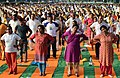 People participating in the rehearsal ahead of the Prime Minister's event on the International Day of Yoga 2018, at the Forest Research Institute, in Dehradun, Uttarakhand on June 19, 2018 (11).JPG