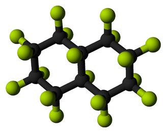 Perfluorodecalin - Image: Perfluorodecalin 3D balls