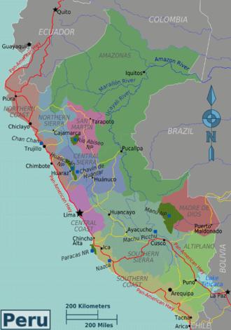 Chan Chan Peru Map.Peru Travel Guide At Wikivoyage