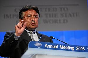 DAVOS/SWITZERLAND, 24JAN08 - Pervez Musharraf,...