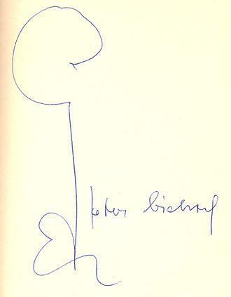 Peter Bichsel - Peter Bichsel´s autograph