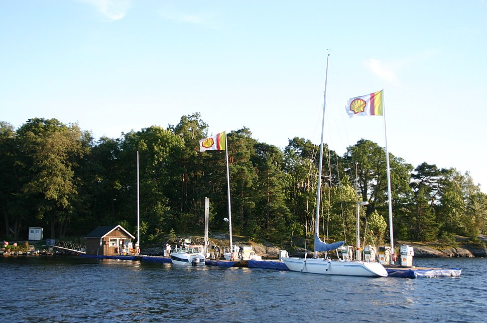 Petrol Station Pier for Boats in Stockholm