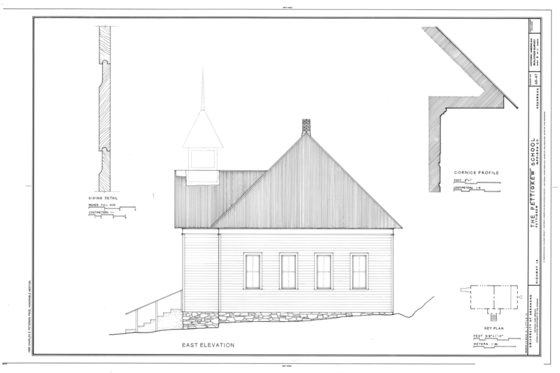 File:Pettigrew School, Across White River from Highway 16, Pettigrew, Madison County, AR HABS ARK,44-PETIG,1- (sheet 6 of 11).png