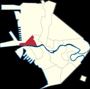 San Nicolas, Manila - Map of Manila showing the location of San Nicolas.