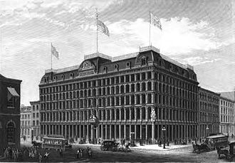 George William Childs - The Public Ledger Building as it appeared when it opened in June 1867