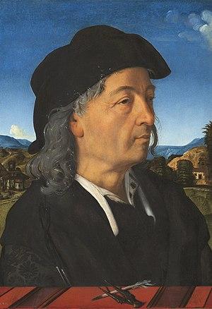 Giuliano da Sangallo - Portrait by Piero di Cosimo, c. 1482-1485 (Rijksmuseum, Amsterdam)
