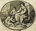 Pierre Bayle - Dictionaire historique et critique, Tome Premier A-G, Reinier Leers, Rotterdam 1697 - frontispice (cropped) - Helmed Athena instructing three children2.jpg