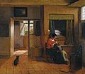 Pieter de Hooch - Binnenkamer met een moeder die het haar van haar kind reinigt, bekend als 'Moedertaak' - Google Art Project.jpg