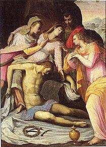 Pieve di Sant'Ippolito, giovanni bizzelli, cristo deposto 1579.jpg