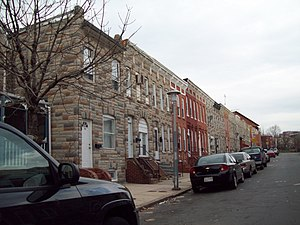 Pigtown, Baltimore - Pigtown Historic District, December 2011