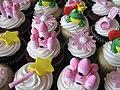 Pink Princess Birthday Cupcakes (3808078114).jpg