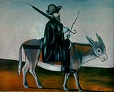 Pirosmani. man on donkey.jpg