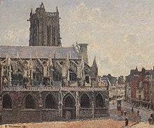 Pissarro (1830-1903) L'église saint-jacques à Dieppe, 1901.jpg