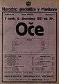 Plakat za predstavo Oče v Narodnem gledališču v Mariboru 6. decembra 1921.jpg