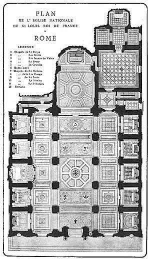 San Luigi dei Francesi - Plan of the Church)