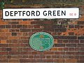 Plaque re St. Nicholas' Church, Deptford Green, SE8 - geograph.org.uk - 1499434.jpg