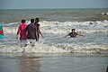 Playful People with Sea Waves - New Digha Beach - East Midnapore 2015-05-01 8801.JPG