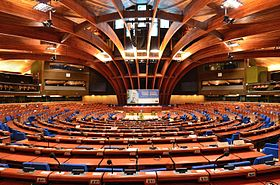Plenary chamber of the Council of Europe's Palace of Europe 2014 01.JPG